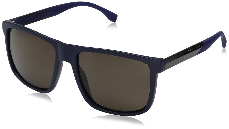BOSS Hugo 0879/S SP 0J9 Gafas de Sol, Azul (Mtbluee Crbbl/Bronze Pz), 57 Unisex-Adulto