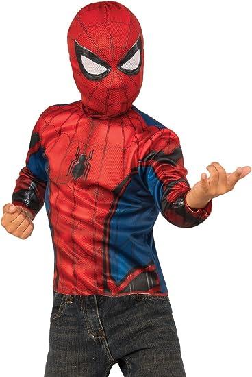 Amazon.com: Spider-Man 2 en 1 Boys Reversible disfraz, S ...