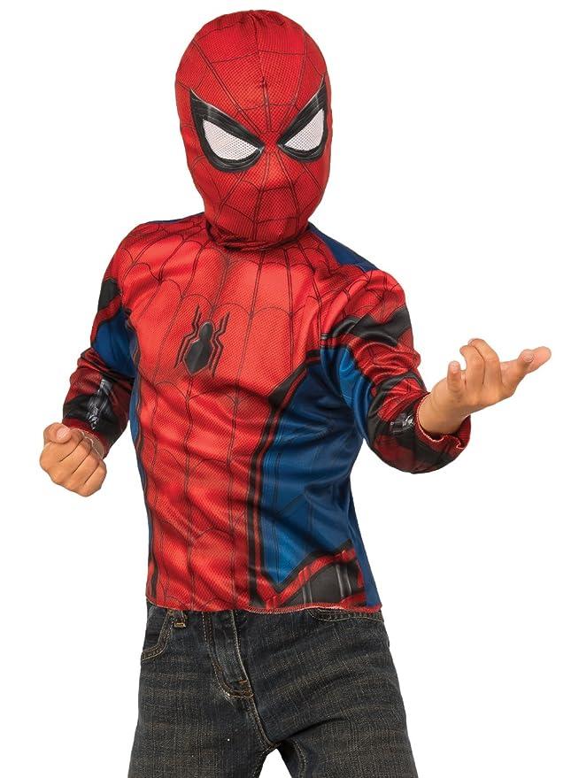 Marvel Disfraz y Mochila Spiderman 4 - 6 Años: Amazon.es: Juguetes ...