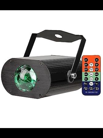 Proyector Discoteca RGB Con Sensor efecto agua LED Con Mando a ...