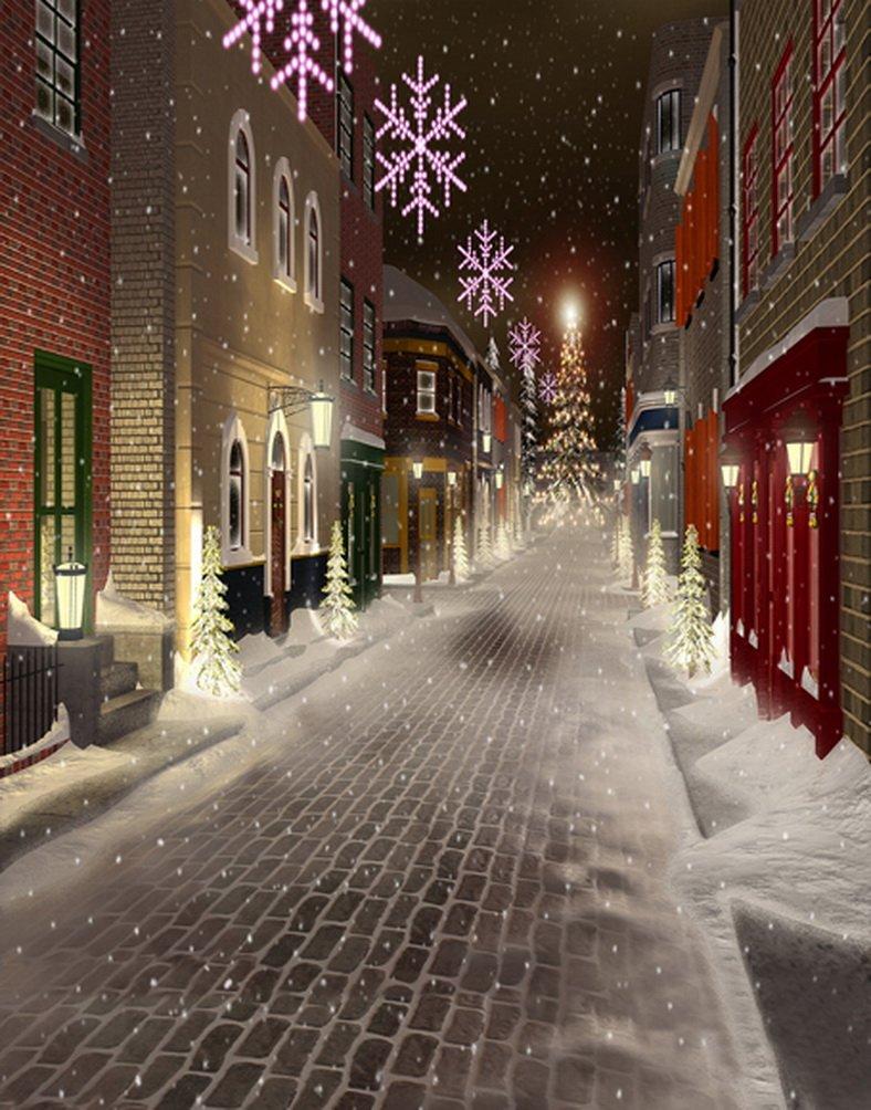 5 x 7ft冬スノーフレーククリスマスツリー写真背景computer-printedビニールBackdrops   B01IX5655C