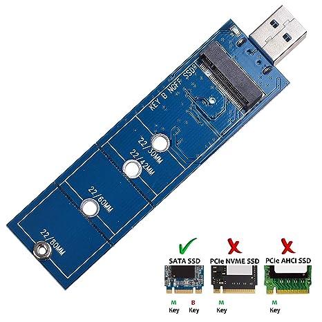 Amazon.com: M.2 al adaptador USB, auyouwei B clave SSD M.2 a ...