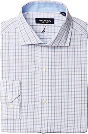 Nautica Tattersall - Camisa de Vestir con Cuello Recortado ...