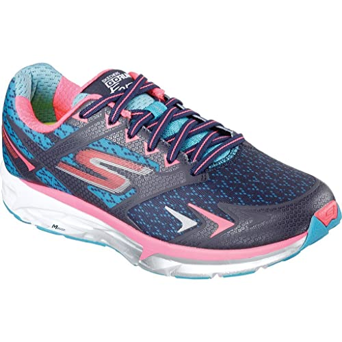 Skechers Women's GOrun Forza Running Shoe,Navy/Hot Pink,US ...