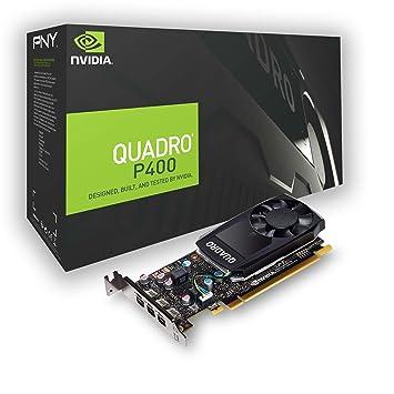 PNY VCQP400DVI-PB - Tarjeta gráfica (Quadro P400, 2 GB, GDDR5, 64 bit, 5120 x 2880 Pixeles, PCI Express x16 3.0)