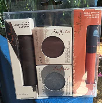 SheaMoisture Set Maquillaje Mascara Sombra Ojos & Brillo Labial Makeup Facial