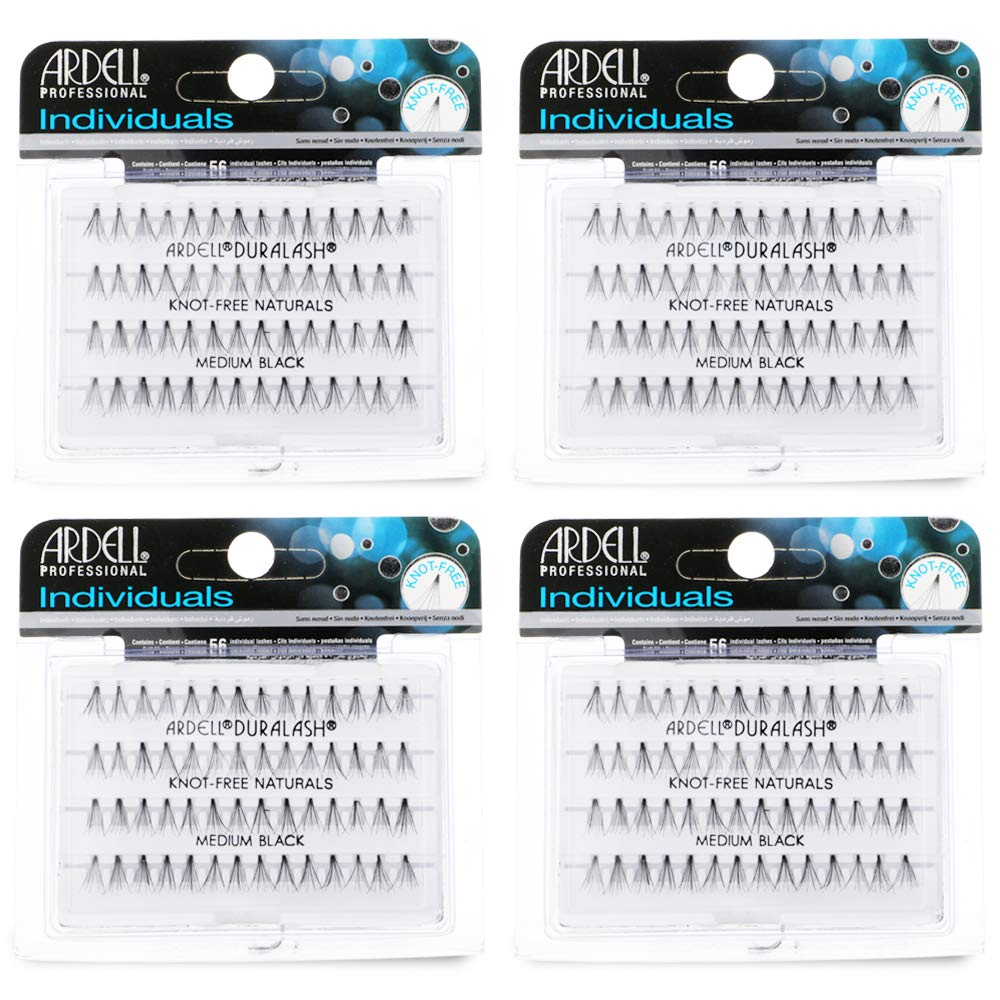 Ardell False Eye Lashes Individuals Medium Black 4 Pack
