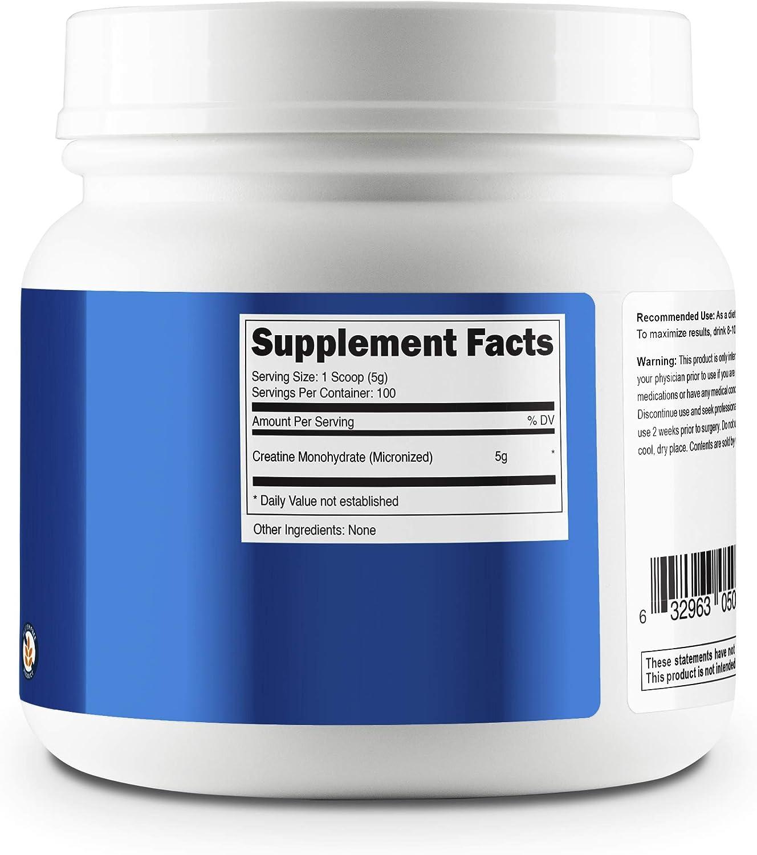 Nutricost Creatine Monohydrate Micronized Powder 500G, 5000mg Per Serv - Pure Micronized Creatine Monohydrate: Health & Personal Care