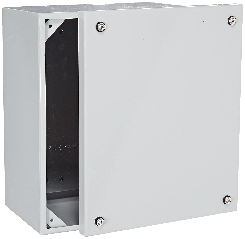 Smooth Gray Finish 7-55//64 Width x 9-53//64 Height x 5-29//32 Depth BUD Industries Series SNB Steel NEMA 4 Sheet Metal Box with Mounting Bracket
