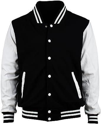 Angel Cola Black & White Cotton Varsity Lightweight Letterman ...