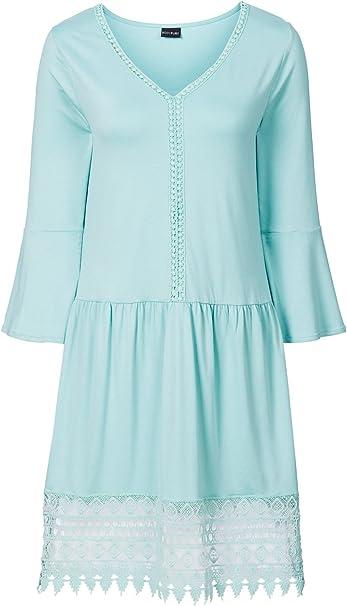Damen Boho Kleid In Gr 32 34 Xs Pastell Mint Grun Gipsy Look 965887 Amazon De Bekleidung