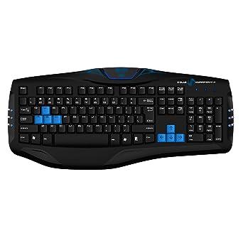 bbfd6520df6 Eblue Polygon Professional Gaming Keyboard EKM075BK Black [video game]:  Amazon.co.uk: PC & Video Games