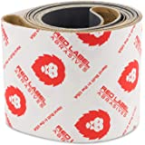Red Label Abrasives 4 X 36 Inch Silicon Carbide Sanding Belts - 600, 800, 1000 Grits - 6 Pack Extra Fine Grit Assortment
