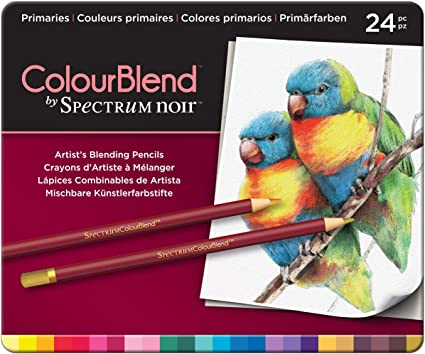 Essentials Spectrum Noir SPECCB-ESS24 24 Piece ColourBlend Premium Blendable Artists Pencils Pack of 24