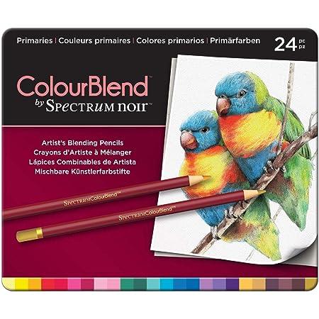 Primaries Pack of 24 Spectrum Noir SPECCB-PRI24 24 Piece ColourBlend Premium Blendable Artists Pencils
