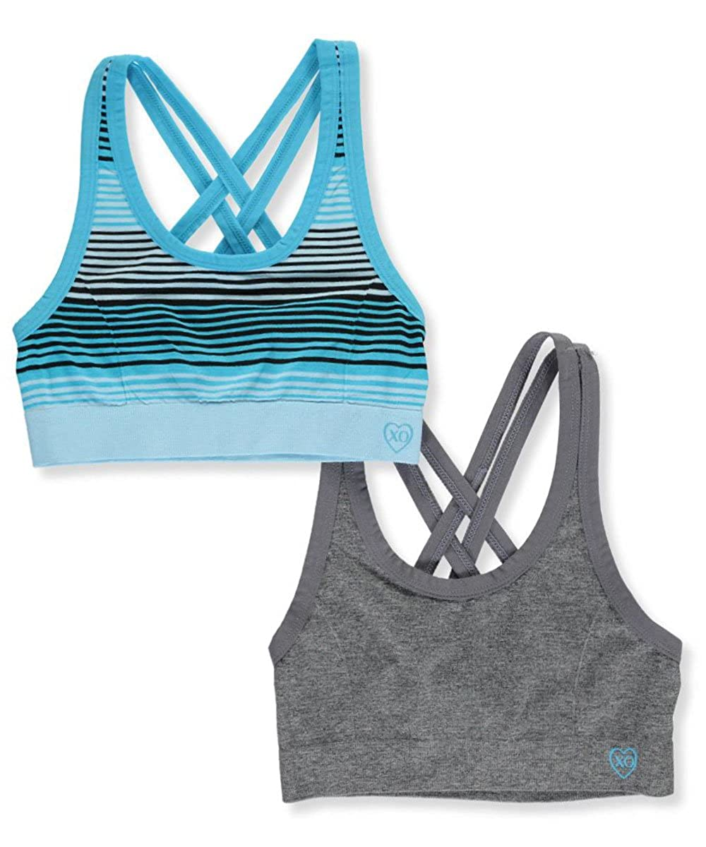 XOXO Girls' Crisscrossed 2-Pack Sports Bras 30