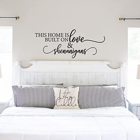 Home Sweet Home Wall Decal Mountains Poster Family Sign House Living Quote Entryway Vinyl Sticker Gift Bedroom Decor Hallway Wall Art 5-71