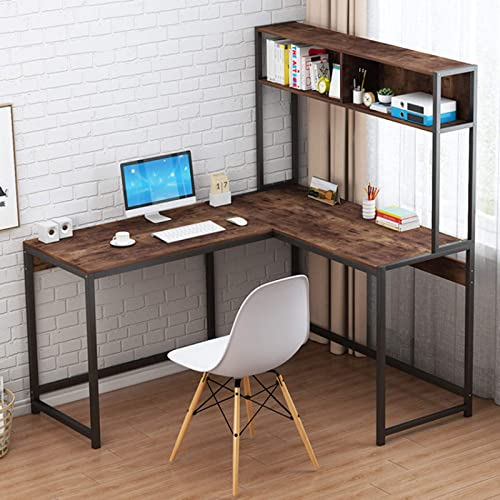 Home Office Desks Desktop Home Computer Desk Modern Minimalist Desk Creative Desk Writing Desk Brown 2