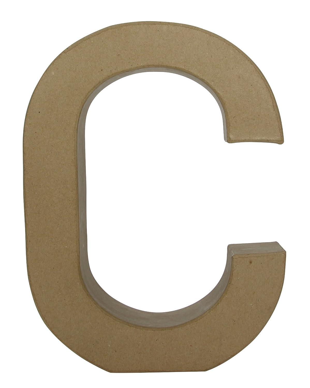décopatch Mache Little Letter A, 1.5 x 10.5 x 12 cm, White Decopatch AC730C