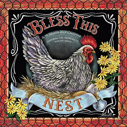 2019 Bless This Nest Hopper Wall Calendar, More Folk Art by BrownTrout