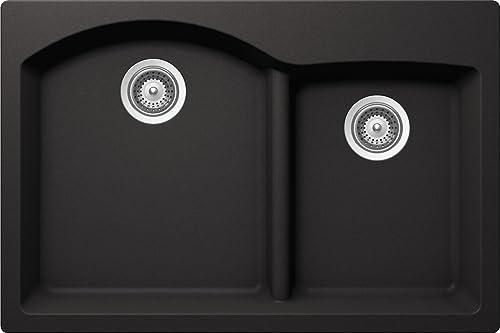 Schock EDON175T013 Cristadur Granite Sink, Nero