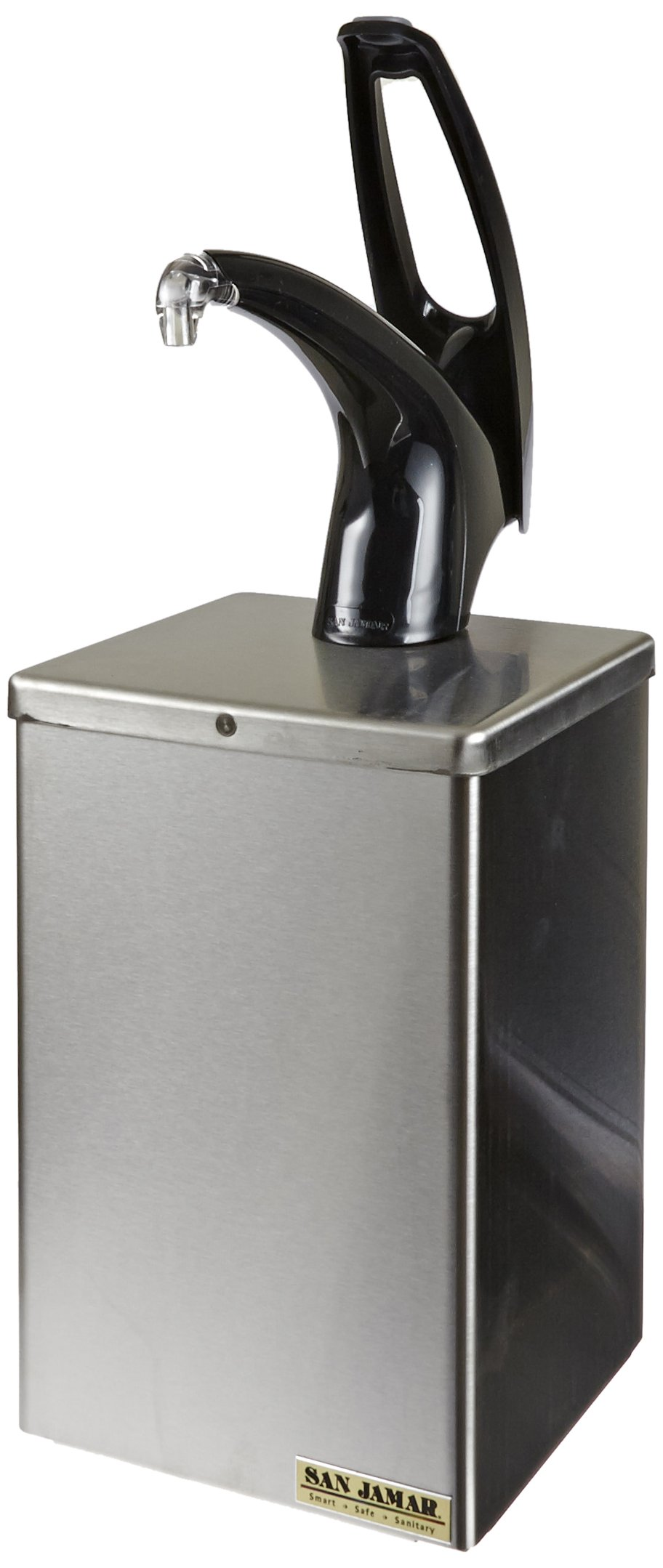 San Jamar P4800 Stainless Steel FrontLine Countertop Box System, 7'' Width x 20-1/4'' Height x 7'' Depth, Black