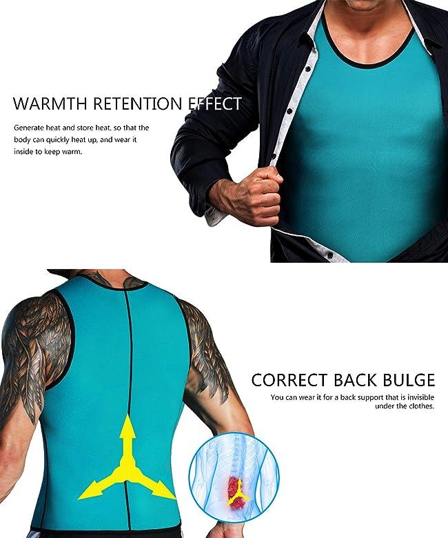 LaLaAreal Faja Reductora Adelgazante Hombre Neopreno Camiseta Reductora Compresion de Sauna Deportivo: Amazon.es: Ropa y accesorios
