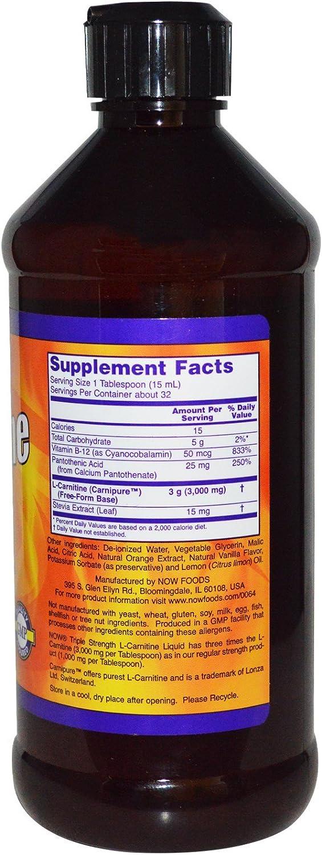 Now Sports - Liquid L-Carnitine (Citrus Flavor) 3000 mg - 16 fl. oz (473 ml) by: Health & Personal Care
