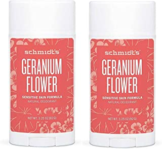 product image for Schmidt's Geranium Flower Sensitive Skin Deodorant Stick Odor Protection and Wetness Relief Aluminum-Free 3.25 oz/each (2 Pack)