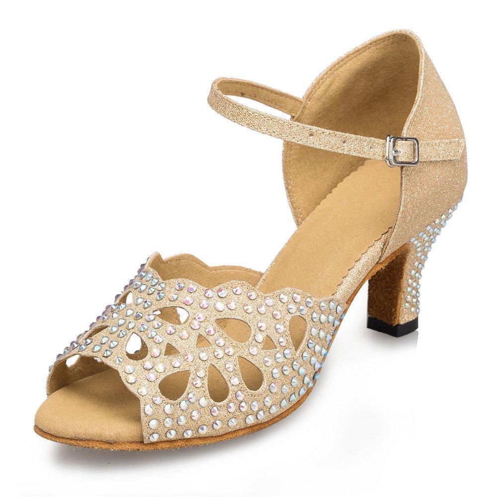 7cm Or L'Intérieur De Femmes Chaussures De Danse De Diahommets Chaussures De Danse Latine 33 EU