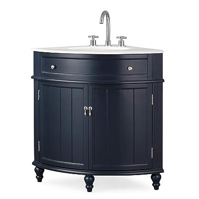 Buy 24 Thomasville Navy Blue Modern Slim Corner Bathroom Sink Vanity Zk 47588nb Online In Bangladesh B07sd262g6