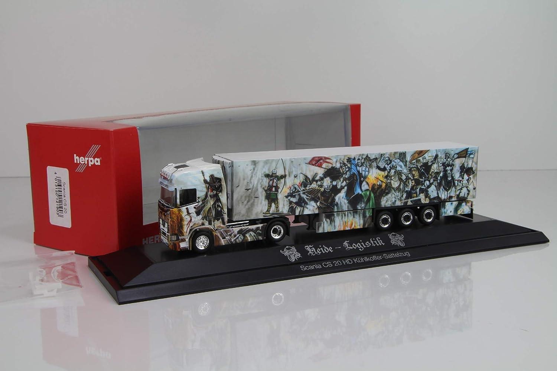 Herpa 121903 Scania CS 20 Hochdach K/ühlkoffer-Sattelzug Heide Logistik