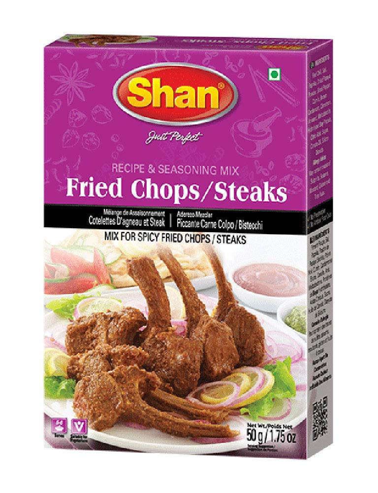 Shan Fried Chops/Steaks Mix Recipe and Seasoning - 50g Spice Powder - No Preservatives - Stir Meat