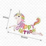 Unicorn Happy Birthday Banner, Unicorn Party