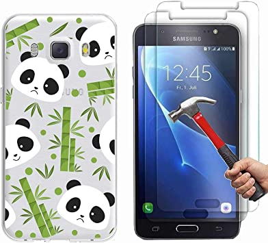 Samsung Galaxy J5 2016 Funda Bambú y panda Soft Transparente Gel ...