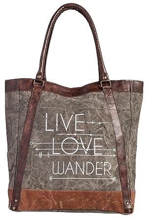 Amazon.com  Mona B Live Love Wander Tote Bag M-3701  Clothing bdf2701af5f4c