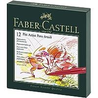 Faber-Castell Pitt Artist Pens in Studio Box of 12, (54-167146)