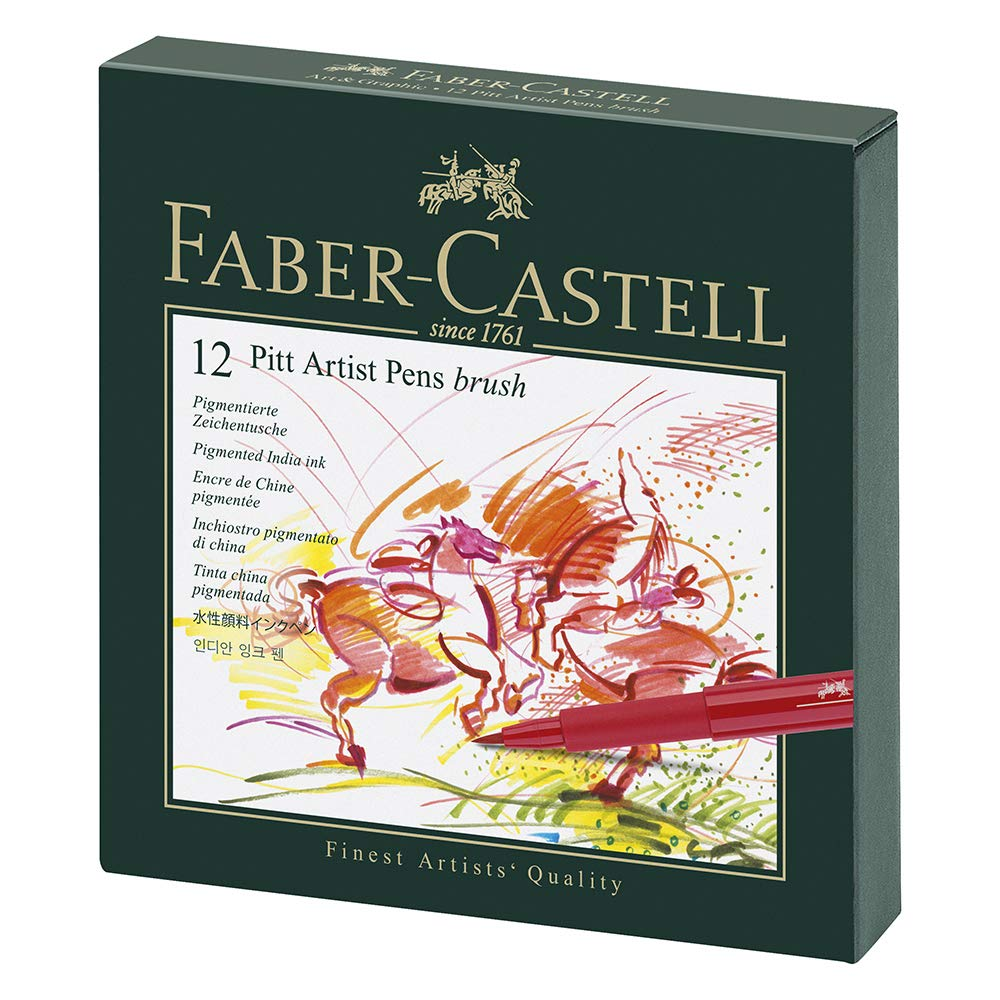 Faber-Castel Pitt Artist Brush Pens (12 Pack), Multicolor