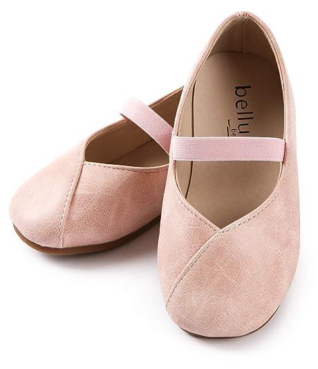 d2a9abb76c8fd ContiKids Girls Flower Mary Jane Ballerina Flat Shoes (Toddler/Little Kid)  150 012Pink