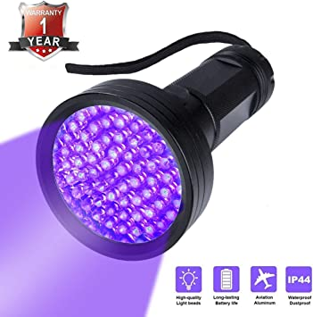 4 X 100LED UV Blacklight Scorpion Flashlight Super Bright Detection Light MM