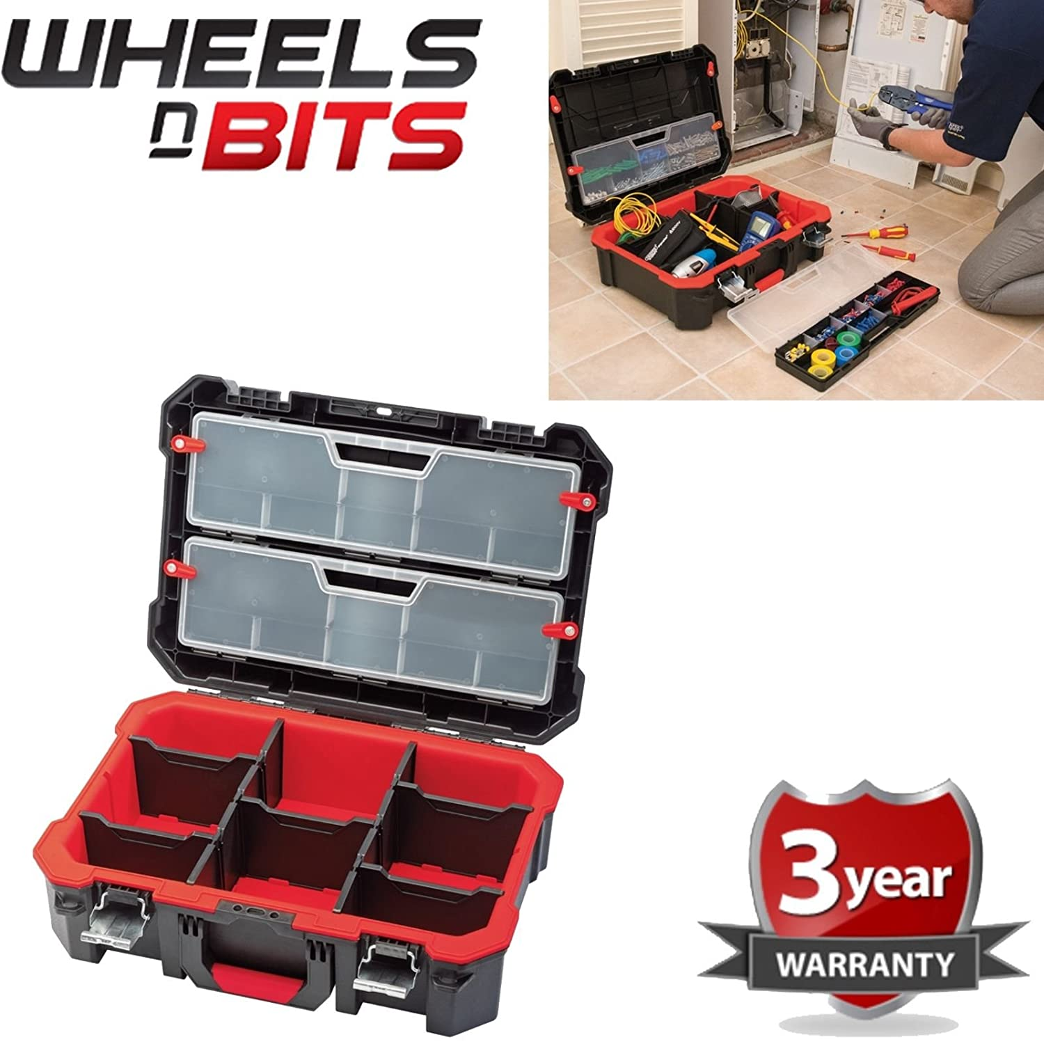Wheels N Bits SUITCASE BOX TOOLS PROFESSIONAL HEAVY DUTY TECHNICIAN'S UTILITY CASE 20