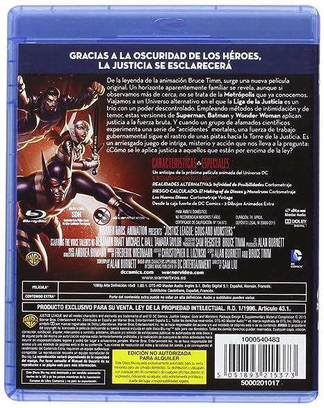 La Liga De La Justicia: Dioses Y Monstruos [Blu-ray]: Amazon ...