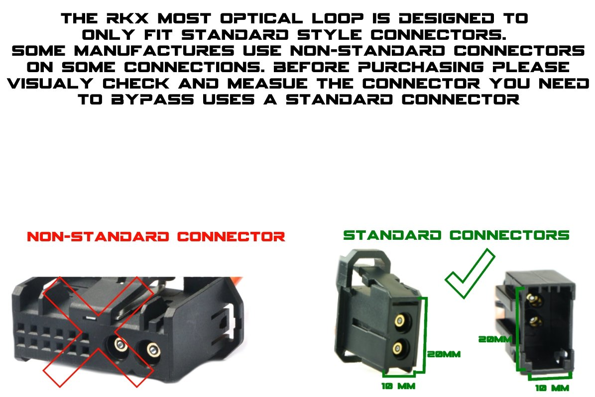 Rkx Most Fiber Optic Optical Loop Bypass Female Adapter S500 2005 W220 Radio Wiring For And Audio Mercedes Bmw Audi Porsche Automotive