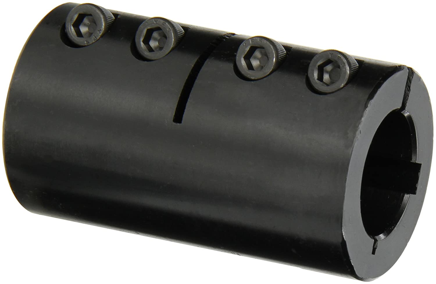 13//16 inch OD Black Oxide Plating Clamping Coupling Climax Part CC-025-025 Mild Steel 1//4 inch X 1//4 inch bore 1 1//4 inch length 4-40 x 3//8 Set Screw