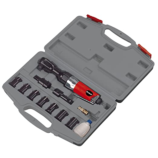 Einhell DRS 200/2 Set con Llave carraca de Aire comprimido, Negro, Rojo, Acero inoxidable: Amazon.es: Bricolaje y herramientas