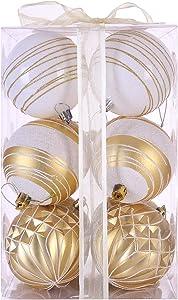 "Sattiyrch 3.15"" Christmas Balls Ornaments 12ct for Xmas Tree,Shatterproof Christmas Tree Decorations with Gift Box"