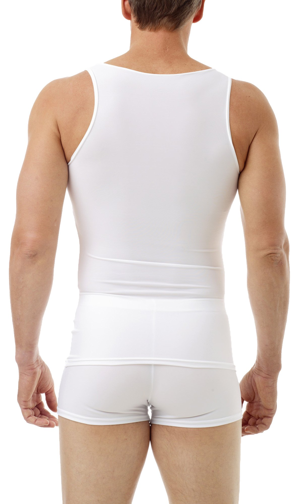 Underworks Mens Microfiber Compression Tank, XSmall, White by Underworks (Image #2)