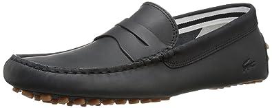 Lacoste Men's Concours 216 1 Slip-On Loafer, Black, ...