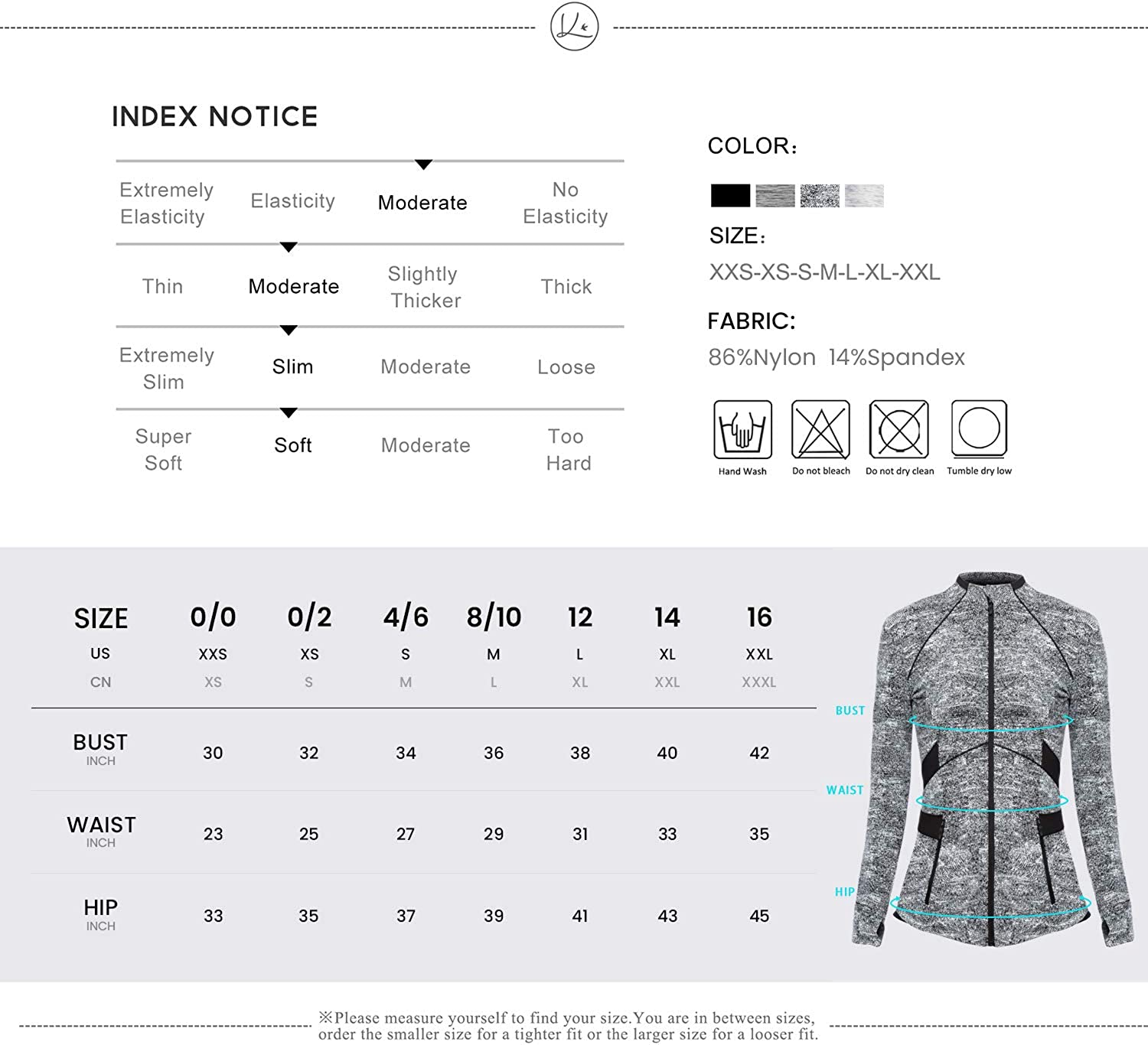 QUEENIEKE Womens Sports Jacket Slim Fit Full-Zip 8205