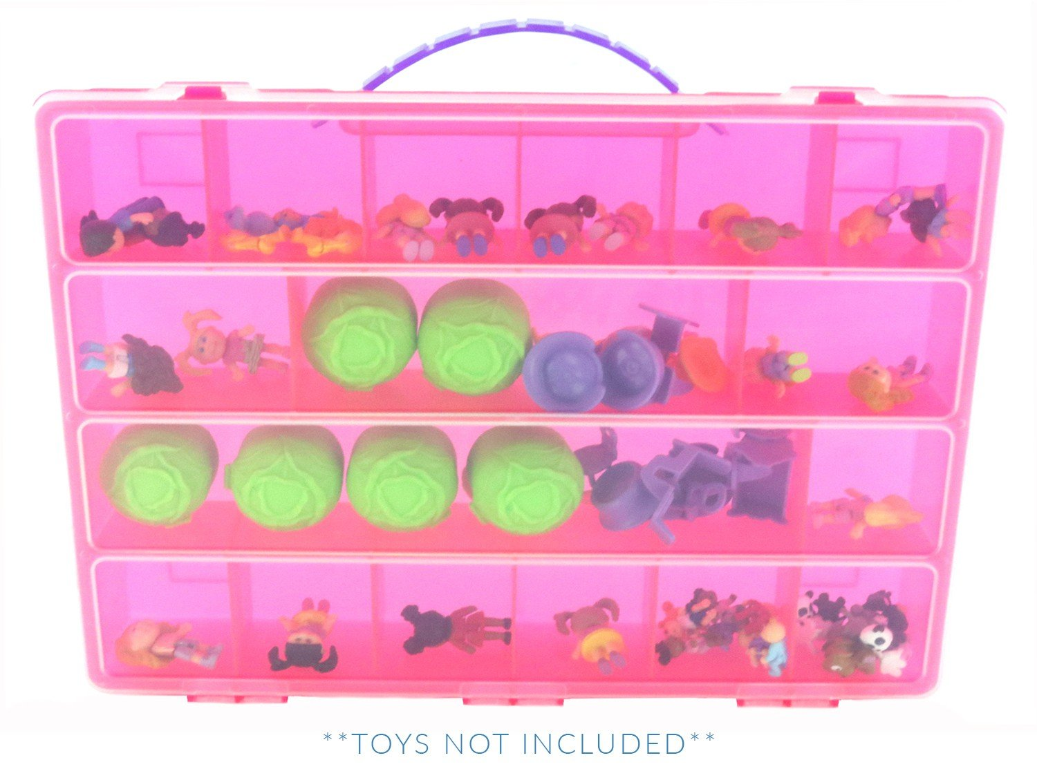 Organizer for Figurine Toys and Accessories Pink Life Made Better Cabbage Patch Case Carrying Storage Box